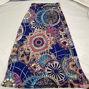 Moa multicolor pattern maxi skirt M